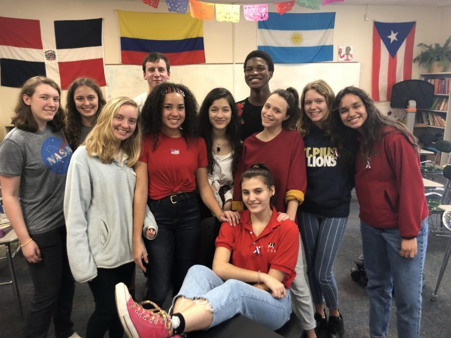 Members from left to right: Abby Craver, Katie Beard, Grey Kenna, Jared Druss, Carmen Anglin, Veronica Prieto, Blake Reynolds, Marley le Time-Brown, Sophie Lentine-Brown, Sofia Baron, and Madelyn Huerkamp (middle)