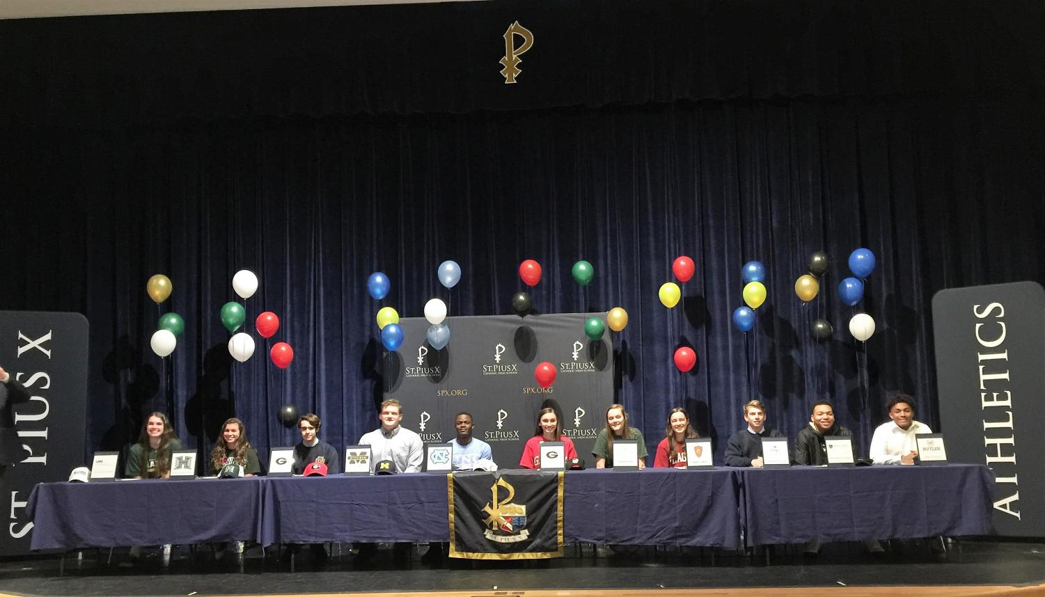 Senior student-athletes signed their letters of intent on national signing day, February 6