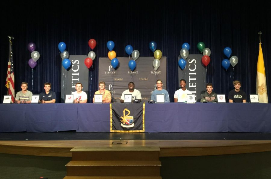 Nine+seniors+signed+letters+of+intent+on+Wednesday%2C+May+1.+The+Class+of+2019+has+a+total+of+24+student-athletes+who+will+further+their+careers+in+college.