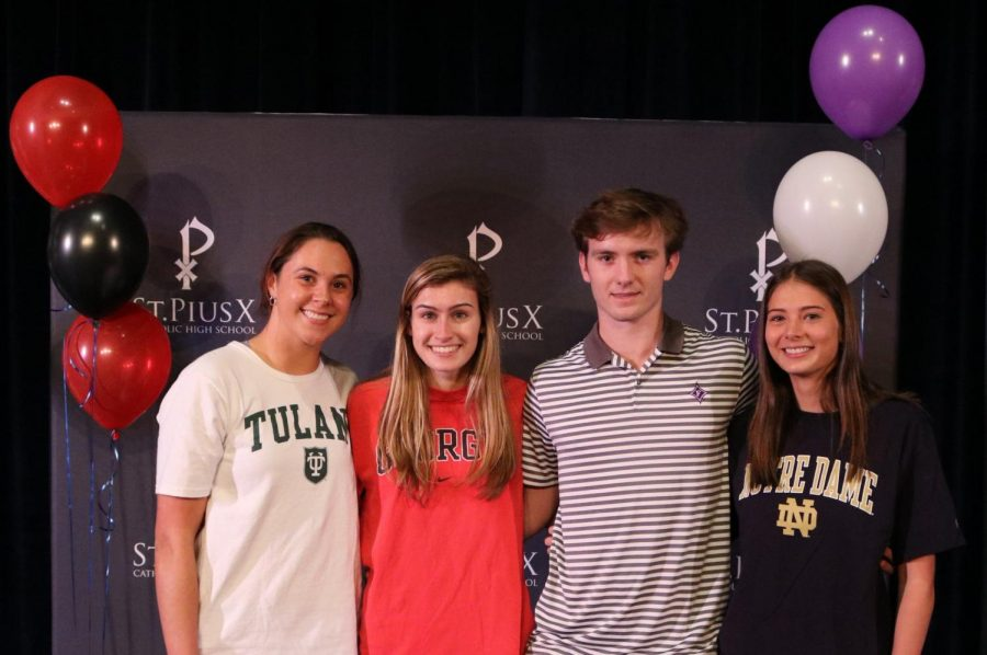 Senior student-athletes sign to continue playing careers in college
