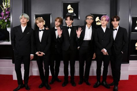 BTS arrives on the red carpet at this year