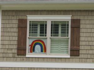 Neighborhoods decorate windows, lawns to spread positivity