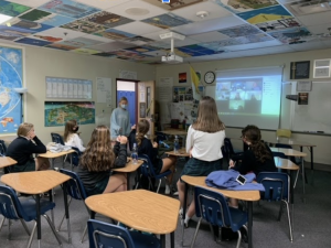 The Friends of Refugees Club meets in Ms. Rose's room after school one day. Working in collaboration with the official non-profit group by the same name, the new club works on aiding the large refugee population in Clarkston, GA.