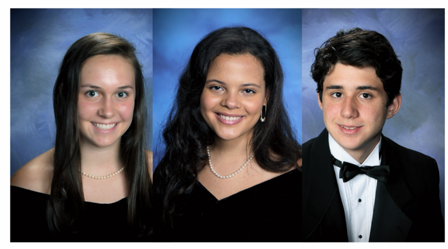 Sarah Halbig (left) was name valedictorian, Sophia Ripoll (middle) salutatorian, and Cody Nelson (right) STAR student for the Class of 2021.