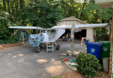 Dr. Wagner has worked on building his plane since 2014, spending approximately 900 hours on the project.